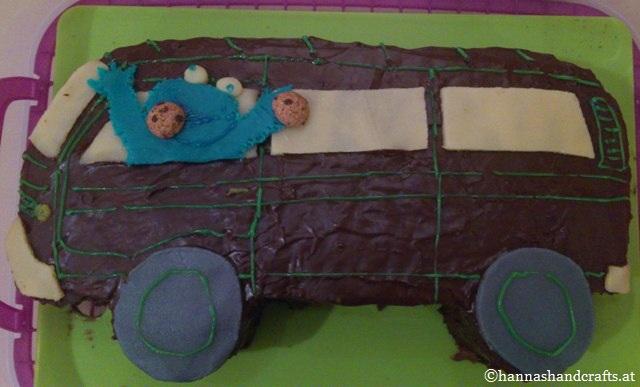 49. Cookiemonster im VW Bus